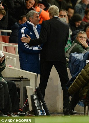 Peace talks: Wenger and Mourinho now get on fine after very public bust-ups in the past