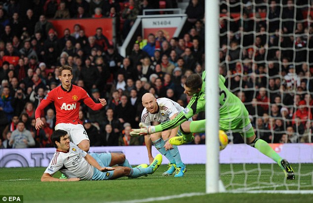 Talent: Manchester United youngster Adnan Januzaj scored against West Ham and impressed throughout