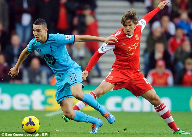 Opportunity: Sherwood gave Nabil Bentaleb (left) a chance against the Saints and the youngster impressed