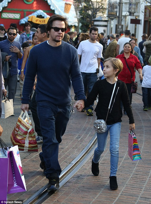 Back at the Grove: Mark headed to the Grove again on Sunday, this time taking Ella to the Cheesecake Factory and bringing home a doggy bag