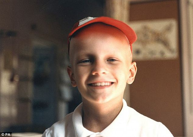 Schoolboy: Mr Trout was first diagnosed with cancer aged seven and had to have a kidney removed