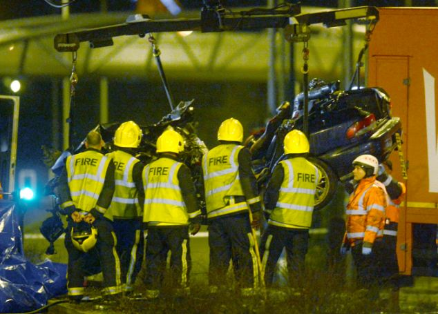 Death: Police are struggling to identify the victims of the crash as their bodies are so badly burnt