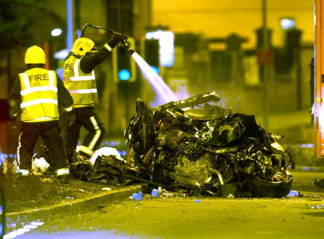 Claims: One witness has suggested the car could have been fitted with N20 gas - which makes the vehicle go much faster than it is usually capable of