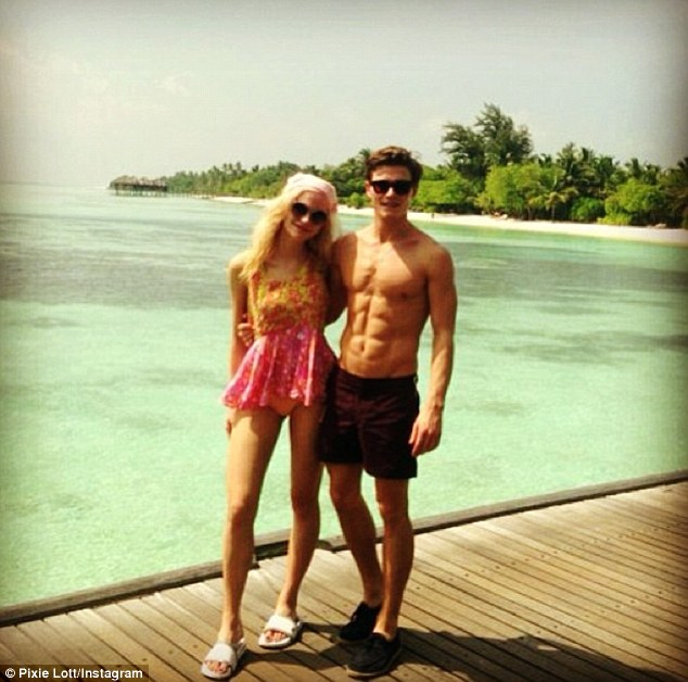 What a view! Pixie Lott and Oliver Cheshire recently holidayed in the Maldives