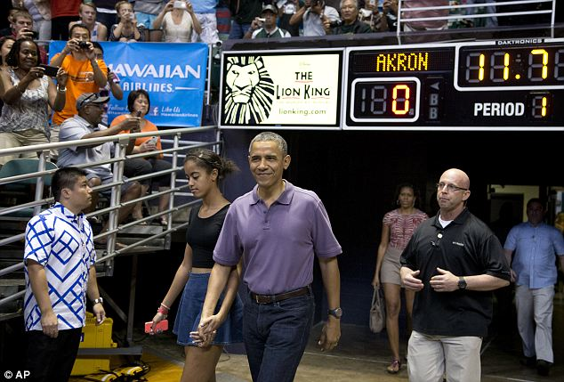 Time's up: President Obama, seen here at his brother-in-law's basketball game on Sunday in Hawaii, has been roundly criticized for the roll out of his signature health care legislation