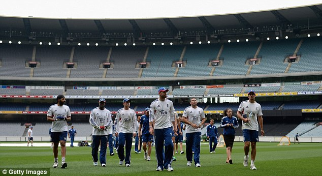 Ready for battle: Alastair Cook will lead his side out at the MCG on Boxing Day as they bid to win a Test