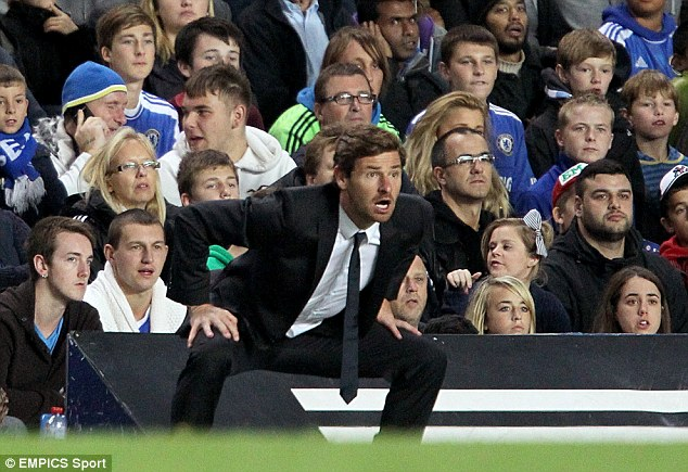 AVB..oring: Tottenham fans were less than impressed by former boss Andre Villas-Boas' style of play