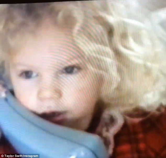 'What?!?': A pint-sized pop princess makes small talk as Taylor Swift posts a video of her four-year-old self taking a phone call