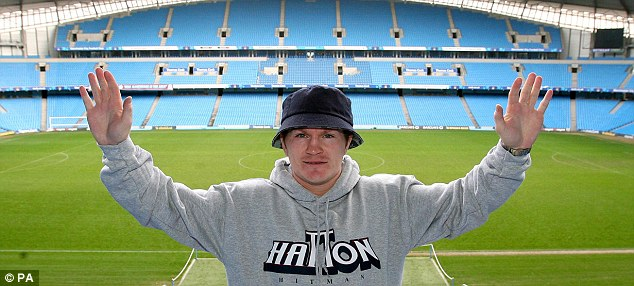 Remembering his roots: Ricky Hatton has long been a popular figure in and around Manchester