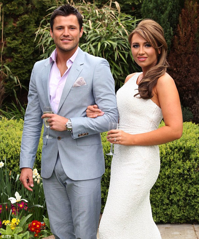 Teen romance: The aspiring businesswoman previously dated her TOWIE co-star and childhood sweetheart, Mark Wright, on and off for 10 years, before the pair finally parted ways in 2011