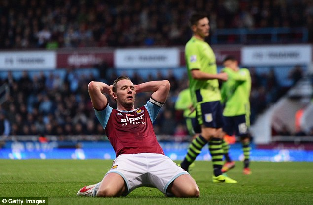 Back in business: Kevin Nolan returns from his suspension on Boxing Day against Arsenal