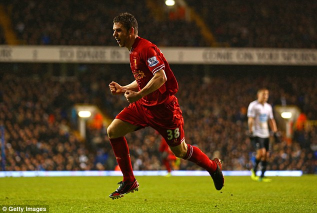 Absent: Jon Flanagan, seen here celebrating his goal in the 5-0 win at Tottenham, will miss the City match with a hamstring injury
