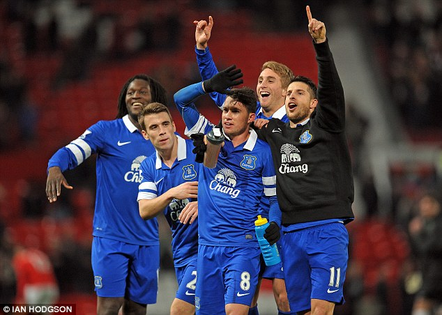 Not just yet: Martinez insists it is far too early to talk Everton up as title contenders