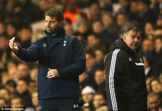 Who's the boss? Tim Sherwood (left) has been appointed manager of Tottenham on an 18-month contract