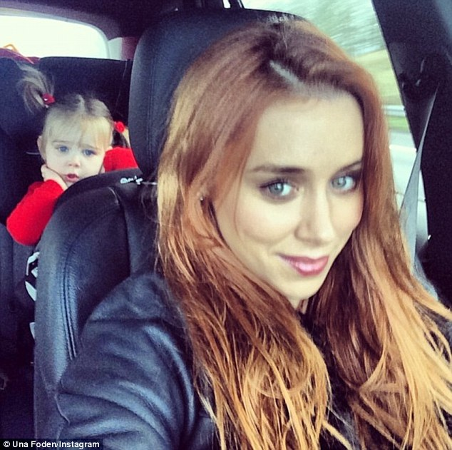 Like mother, like daughter: Una Foden shared a picture of herself with her daughter Aoife Belle on Tuesday