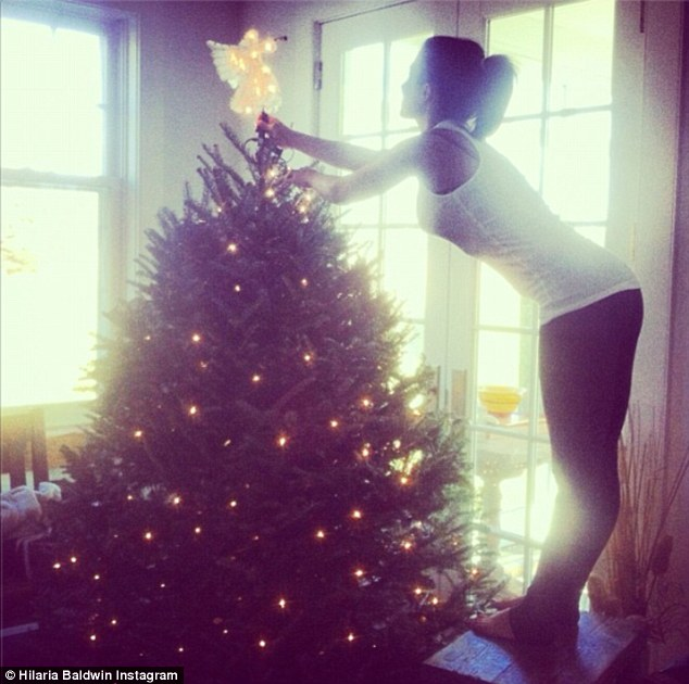 And that's it! Earlier in the day, the yoga instructor topped off her Christmas tree with an angel