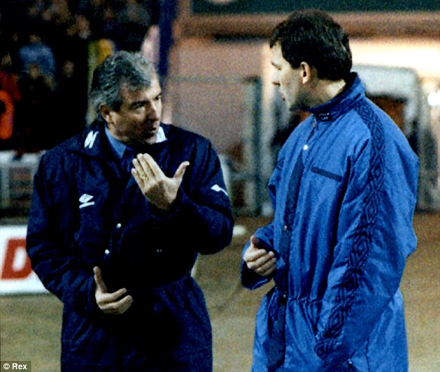 From Wembley way to Africa: Bryan Robson talks tactics with Terry Venables during their time with England