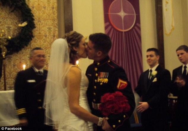 Tragic: Marine Sgt Daniel Vasselian married his high school sweetheart Erin on December 17, 2009. They celebrated their wedding anniversary last week