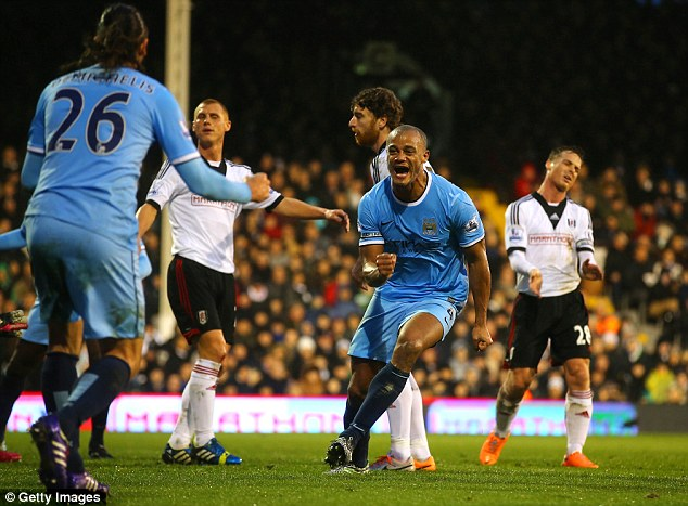 Free-scoring: City have scored 11 goals in their last two league games, with wins over Arsenal and Fulham