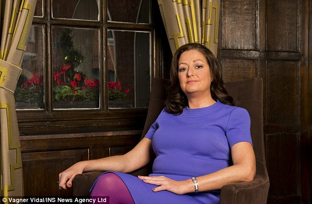Frightening: Daniela Vinci woke up with a torch shining in her face in her bedroom