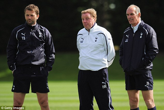 Same again: Tim Sherwood served under Harry Redknapp and now hopes to emulate his former boss now that he is in charge of Tottenham