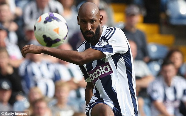 Not finished yet: West Brom caretaker manager Keith Downing says Nicolas Anelka still has a massive role to play for the club