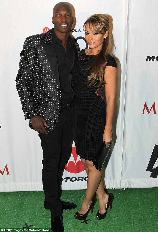Finding love again: Evelyn was previously married to Chad Johnson, but the pair split just two months after tying the knot following a physical altercation