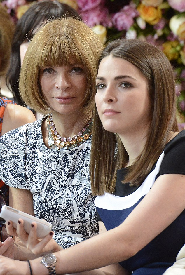 Anna Wintour and her daughter Bee Shaffer, seen here in a photo from Paris Fashion Week 2012, enjoyed a Christmas without a tree this year