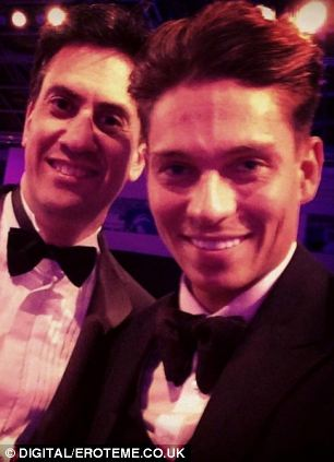 Joey Essex saying in these social network pictures 'Safe though' and 'SELFIE with my mate Ed'