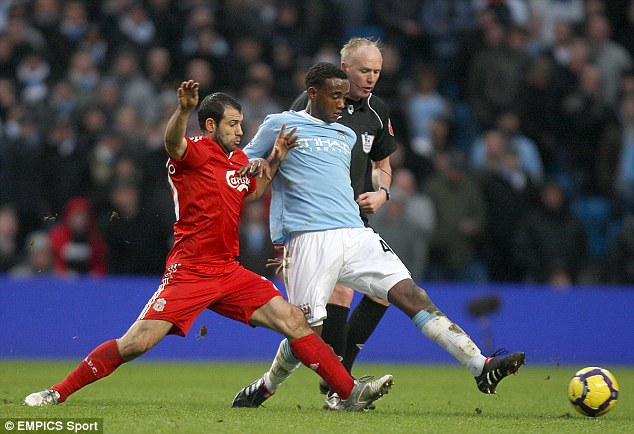 Midfield star: Abdisalam Ibrahim (right) has been likened to Patrick Vieira and Yaya Toure