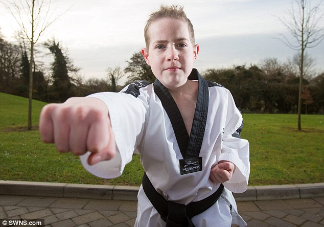 Daniel says his fellow Tae Kwon Do students helped him through the most difficult days when he returned to training