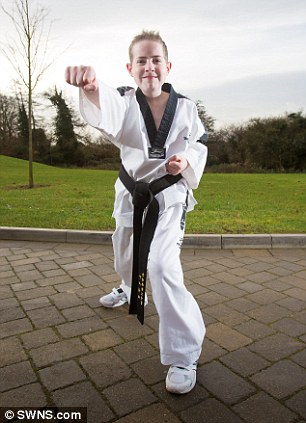 Daniel is now fully recovered, and has just got his black belt in Tae Kwon Do