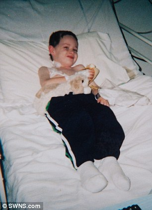 Doctors said that Daniel, pictured here on his seventh birthday in September 2007, would not make a full recovery.