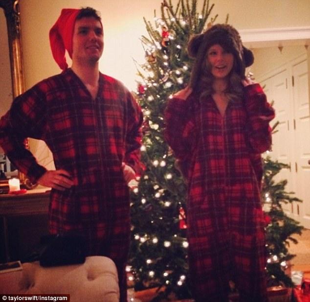 Her main man: Taylor Swift shared a photo alongside brother Austin on Christmas Eve