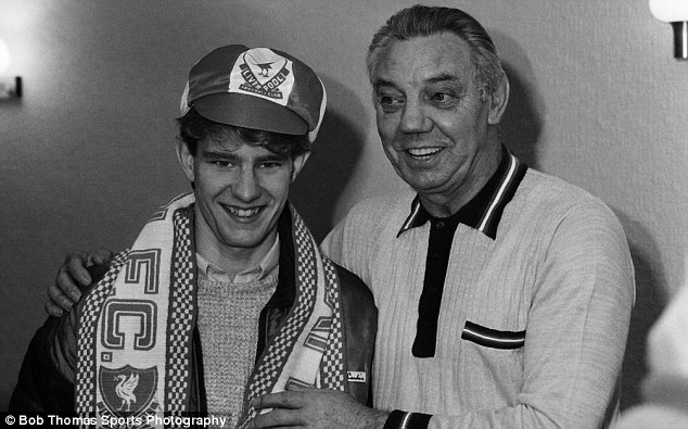 Dream: Former Liverpool boss Joe Fagan (right) with Harrison after his transfer from Oldham in 1985