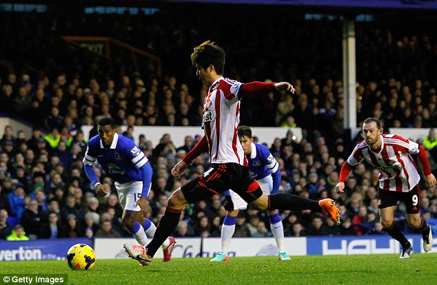 Nothing's perfect: Everton's unbeaten year at home ended with Ki Sung-Yueng's penalty