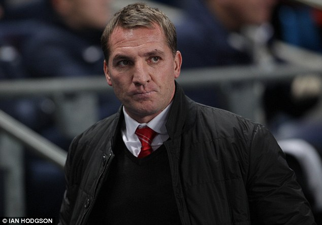 Outburst: Liverpool manager Brendan Rodgers appeared to blame referee Lee Mason for his side's defeat