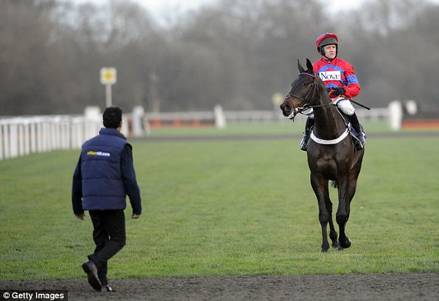 End of the run: Sprinter Sacre returns to the stables after losing a 10-race unbeaten record