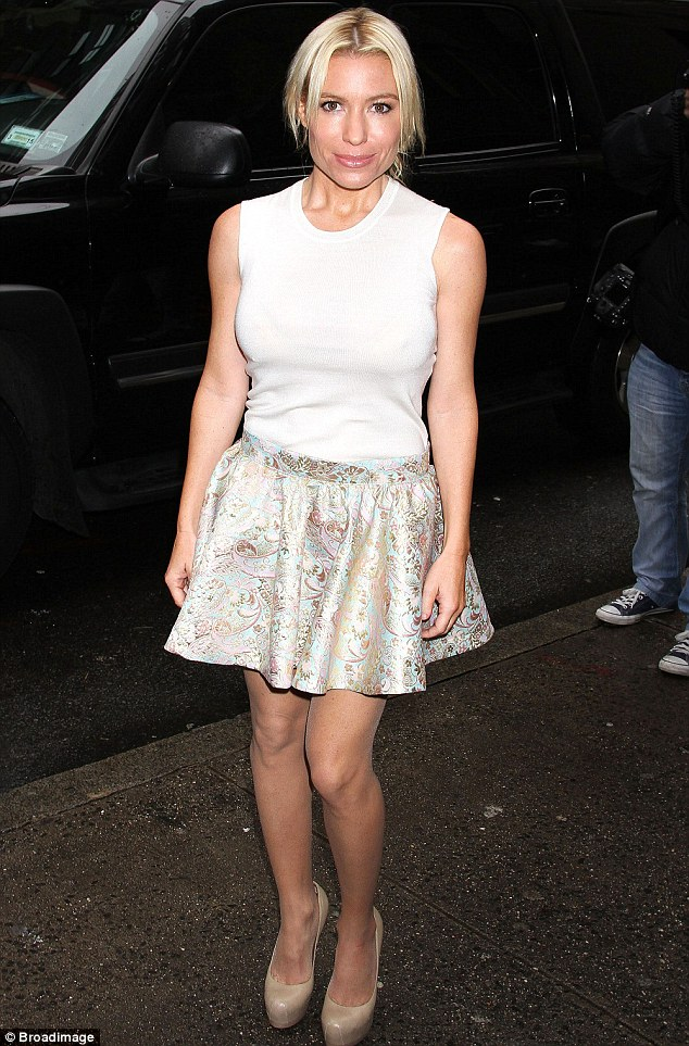 Holiday advice: Tracy Anderson, 38, - seen pictured at the 2nd Annual Cosmo 100 Power Lunch in New York on December 9 - recommends that women sustain their fitness regimes during the Christmas season