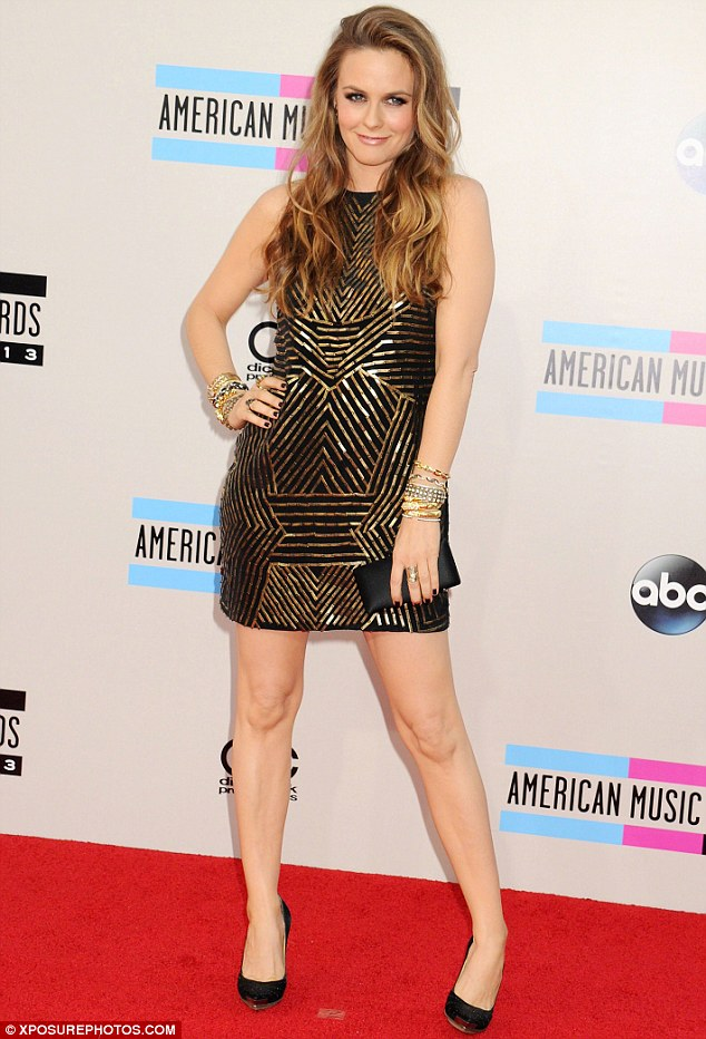 Glamour girl revisited: Alicia is seen dressed to the nines at the 2013 American Music Awards in LA on November 24