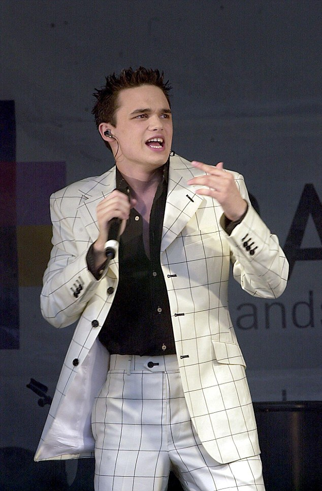 Check him out: Gareth Gates is also joining the new band - which is a twist on the show