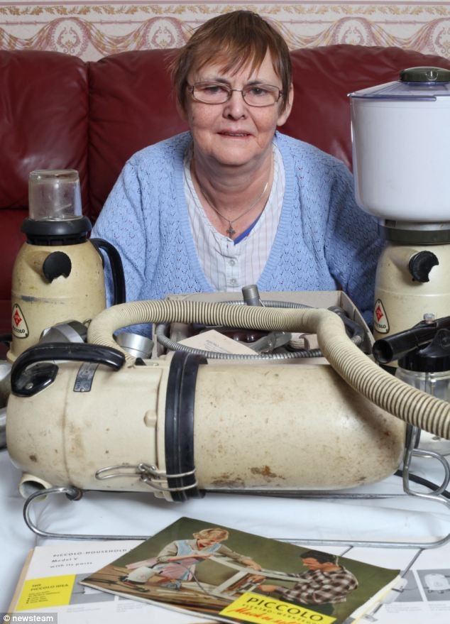 Dependable: Mary Waite, from Halesowen, Birmingham, has been using the Piccolo multi-purpose appliance since it was given to them as a wedding present in 1976