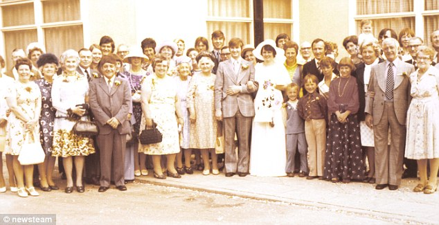 Present: An aunt gave Mary and Ivor Waite, pictured on their wedding day in July 1976 held at West Bromwich Registry office, the Piccolo as a gift