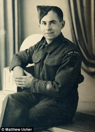 Percy Norton in his uniform in 1944