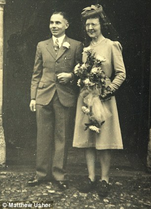 Percy Norton from North Tuddenham is celebrating his 100th birthday on the 27th December - Percy on his wedding day in 1943. Picture: Matthew Usher.