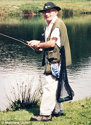 Percy Norton from North Tuddenham is celebrating his 100th birthday on the 27th December - Percy out trout fishing, which he still does. Picture: Matthew Usher.