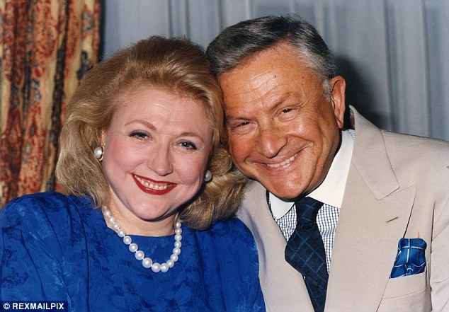 Love: Barbara Taylor Bradford with her husband Bob. They stayed close through a devastating miscarriage