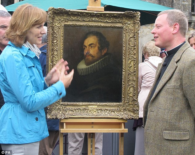 Materpiece: Fiona Bruce with FR Jamie MacLeod with the 17th century work of art