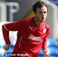 Red alert: Brayford in action during pre-season