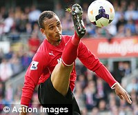 For Pete's sake: Odemwingie in action for Cardiff